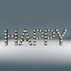 Happy Marquee Blinking Sign