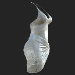 DIYA DRESS W TRANSP  WHITE