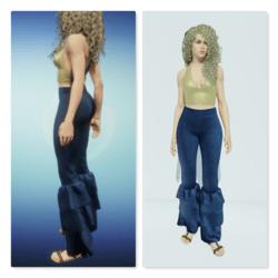 Mamma Mia Ruffled Jeans