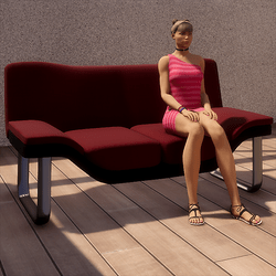 Modern Sofa - Tintable with 4 Sits