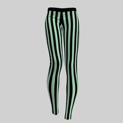Leggings Maddy Stripes Black & Lil Mint 2.0