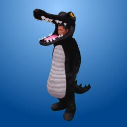Croc Costume Black (Male)