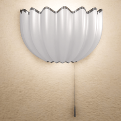 Shell Wall Lamp - Silver - Scripted On / Off
