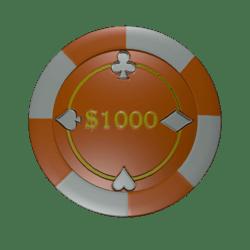 Poker Chip 1000 (colision)