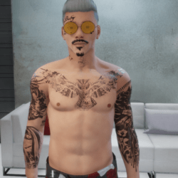 Tattoo Raider (half-body) male