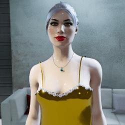 Female Diamonds & Gold Dress