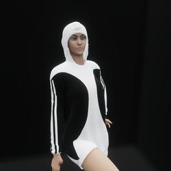Hoodie Dress Black (TM)