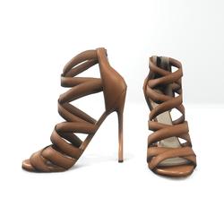 Strappy stiletto sandals for nicci - brown