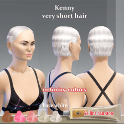 kenny-very short hair-base white-infinity colors