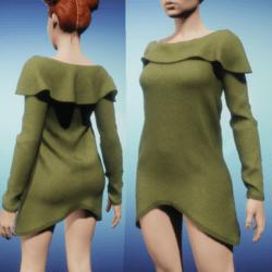 Snoodie Dress or Top -Khaki Green