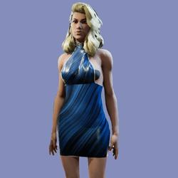Ruth Blue Silk