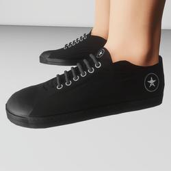 Men's retro low top shoe (black/black)