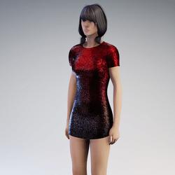 Dress Beauty black red