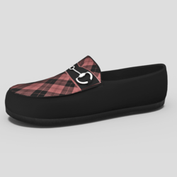 Men's Mocassin Shoes Tartan