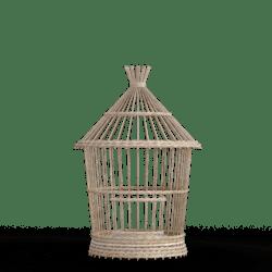 Light Brown Wicker Bird cage