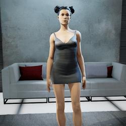 CLELIA strappy dress onyx
