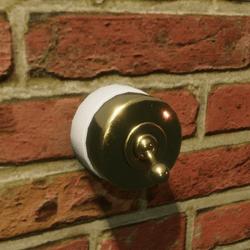 Edwardian brass light switch