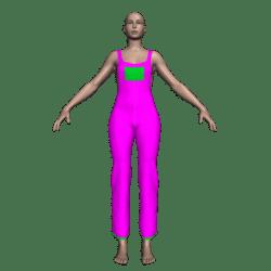 Hemmed Overalls (Hot Pink)
