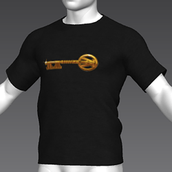 Ready Player One: Copper Key T-Shirt (Black) (M)