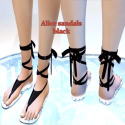 Alice sandals-black