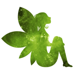Green Fairy Wall Decal
