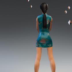 Chinese Satin Dress #3