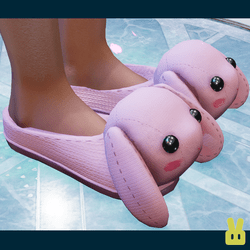 bunny slippers - pink
