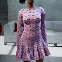 Bone dress - pink-purple