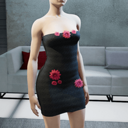 Free Leather Flower dress