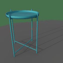 GLADOM Tray Table (Blue)