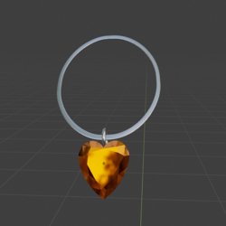 Heart Of The Fire  Necklace