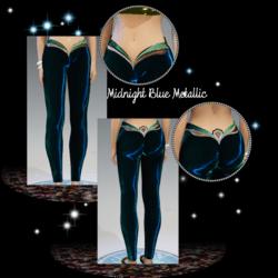 Female - Midnight-Blue-Metallic Mermaid Leggings
