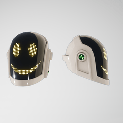Daft-Punk Helmet Guy smile (white)