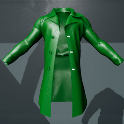 Male St. Patrick's Green Leather Jacket