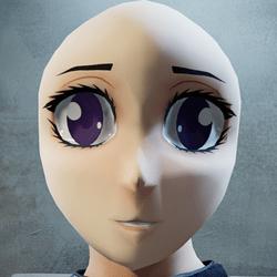 Anime head (mask)