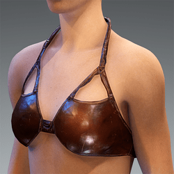 Top Bustier Leather Drak Brown