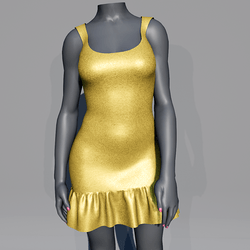 Glitter Party Dress - Yellow