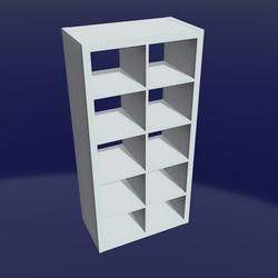 IKEA shelf 2x5 White