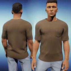 Mens One Pocket Tee - Brown