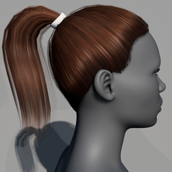 Hair - Pony Tail - Brown Cinnamon