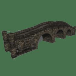 Stone bridge three arches