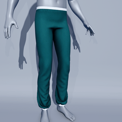Men Sport Pants - Quetzal Green