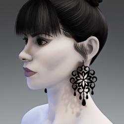 Dark night earrings