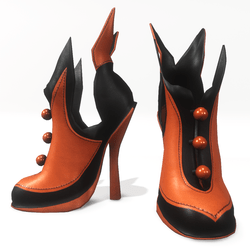 """Halloween witch shoes for """"Alina Daisy"""" and """"Nicci"""" avatar - orange"""