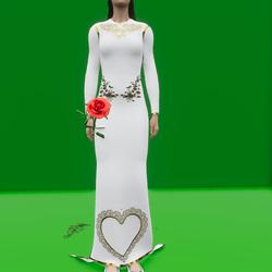 Gold Trim Wedding Dress (TM)