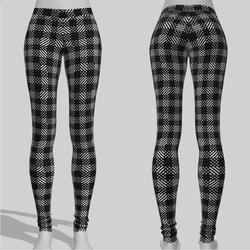Leggings Maddy Plaid Black & White