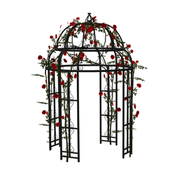 Gazebo with red roses