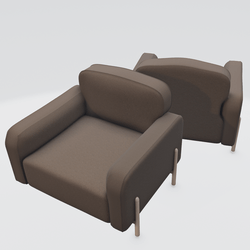 Hero Lounge Chair Brown