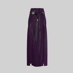 Skirt Briana Vinyl Deep Purple 2.0