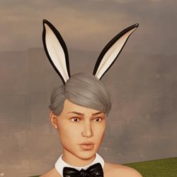 Sexy Bunny Ears - Up - Black
